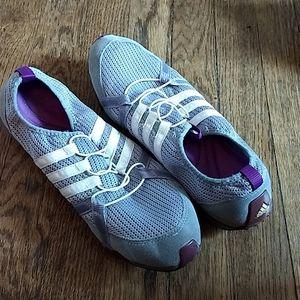 Adidas slip ons!